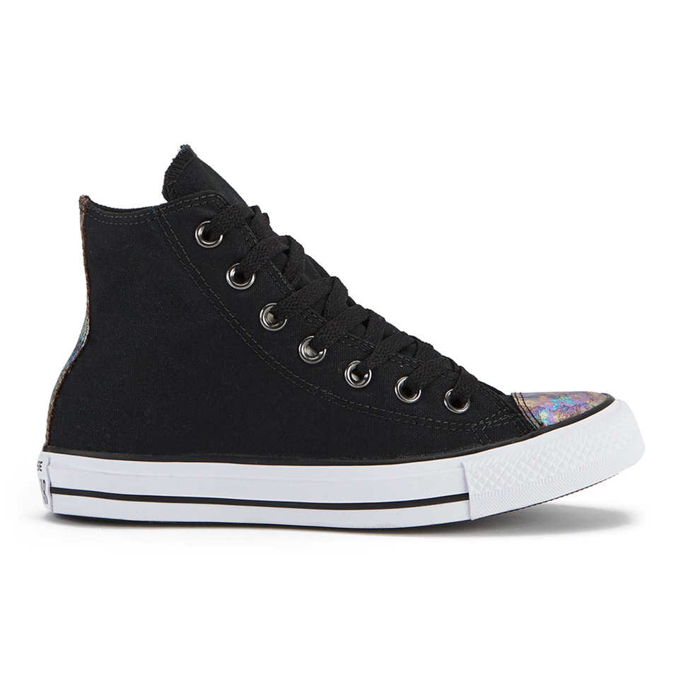 ab3858a9262e Converse Women s Chuck Taylor All Star Oil Slick Toe Cap Hi-Top Trainers -  Black - Free UK Delivery over £50