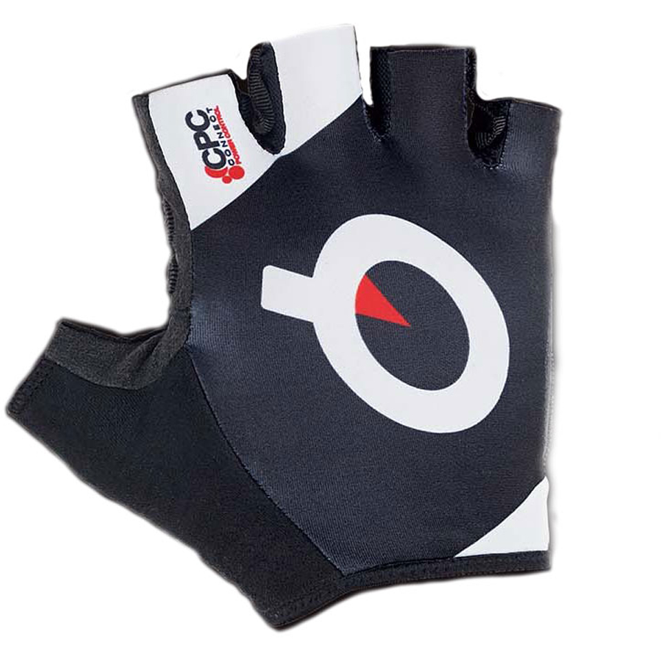 prologo-cpc-short-finger-gloves-black-white-logo-m