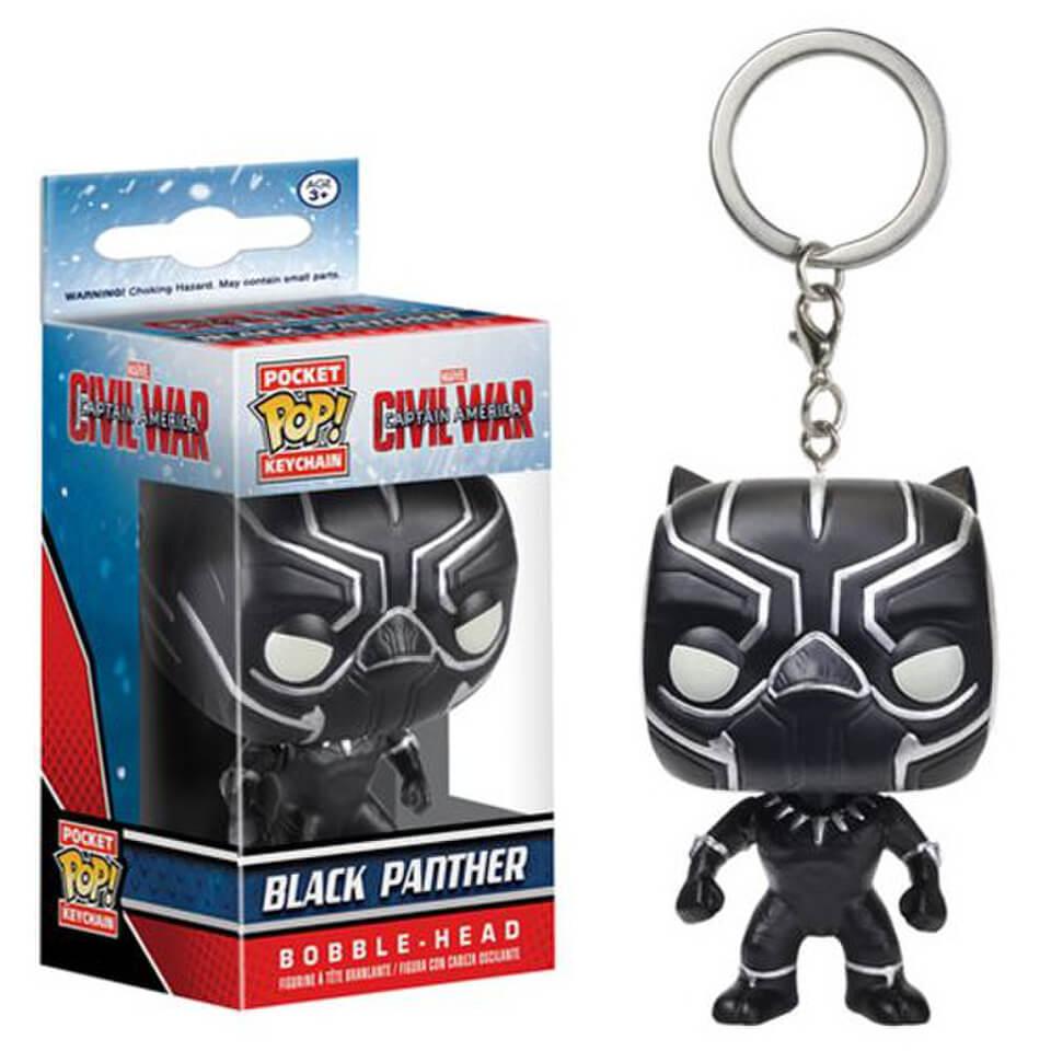 Captain America Civil War Black Panther Funko Pocket Pop! Schlüsselanhänger