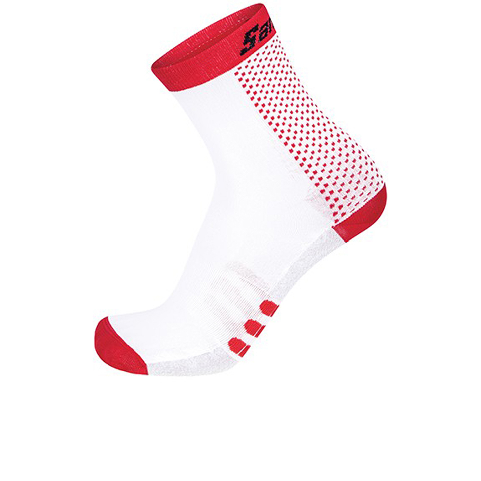 santini-two-medium-profile-socks-red-m-l