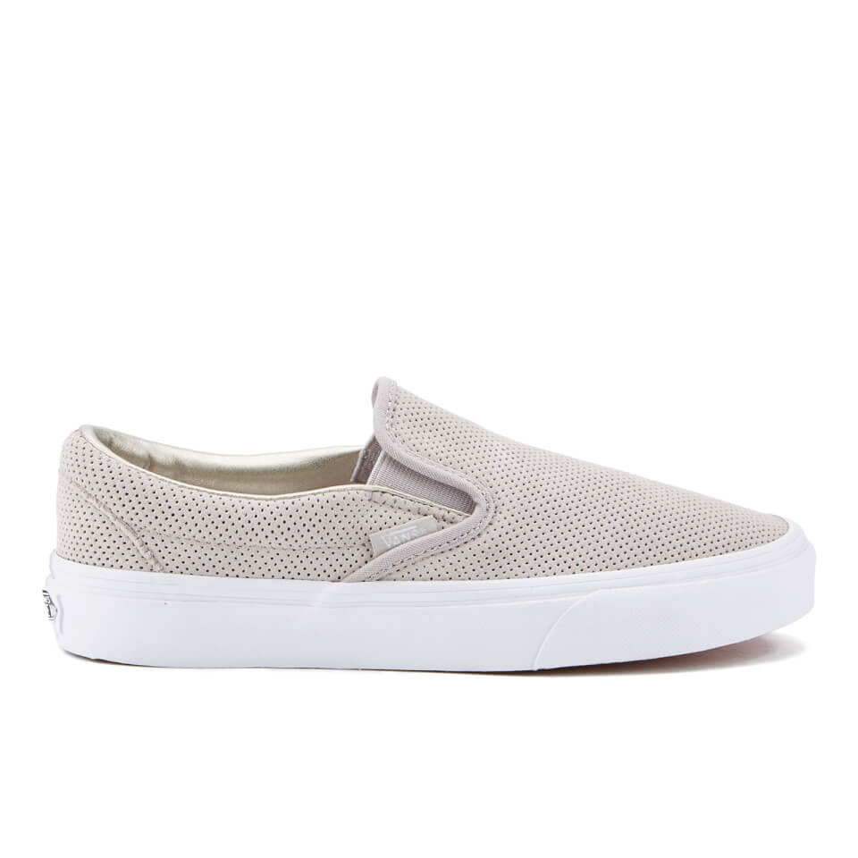 Vans Women S Classic Slip On Perforated Suede Trainers