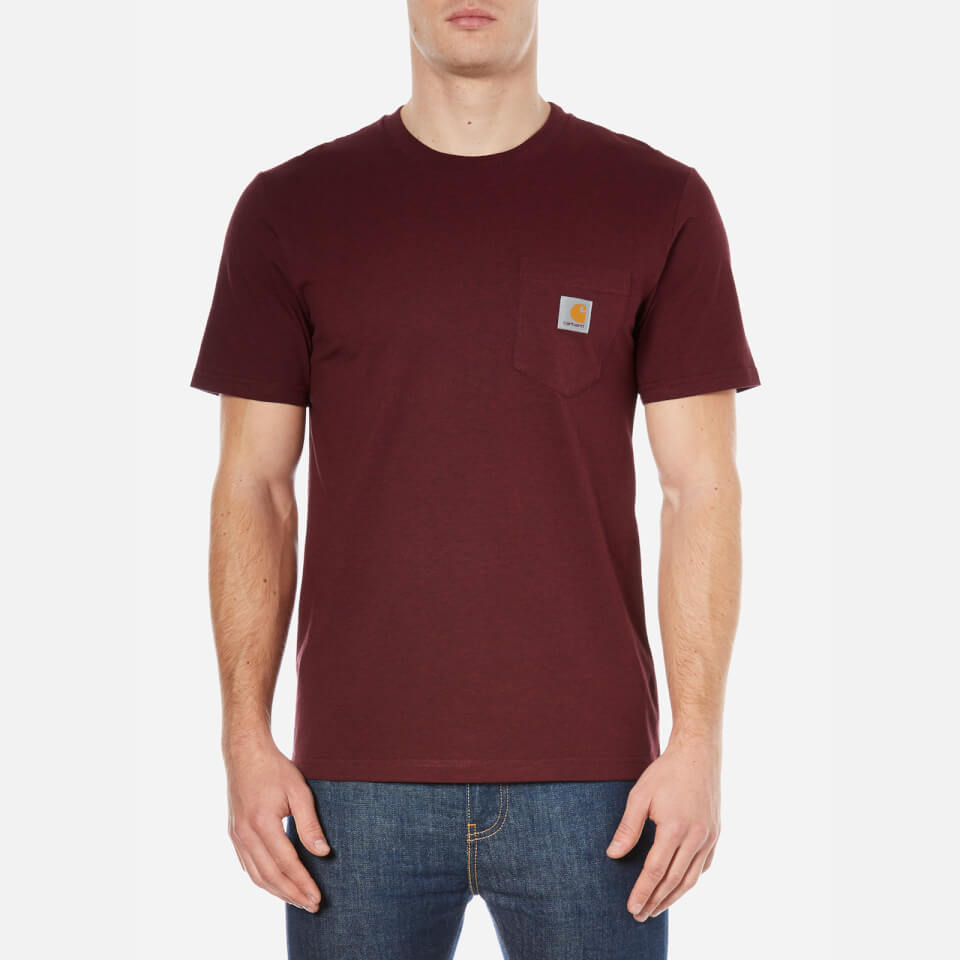 Carhartt Men s Short Sleeve Pocket T-Shirt - Chianti Heather Clothing  ddaaa6151