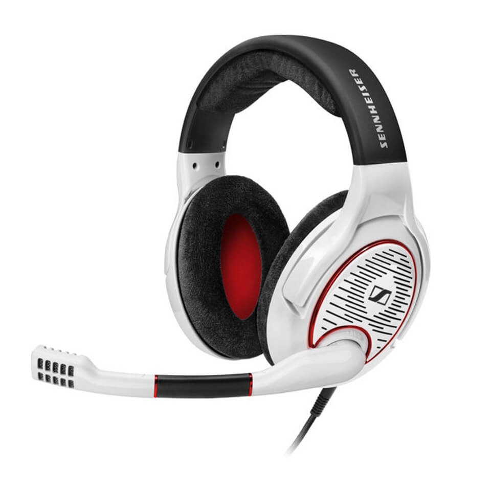 sennheiser game one open over ear gaming headset with noise cancelling mic white electronics. Black Bedroom Furniture Sets. Home Design Ideas
