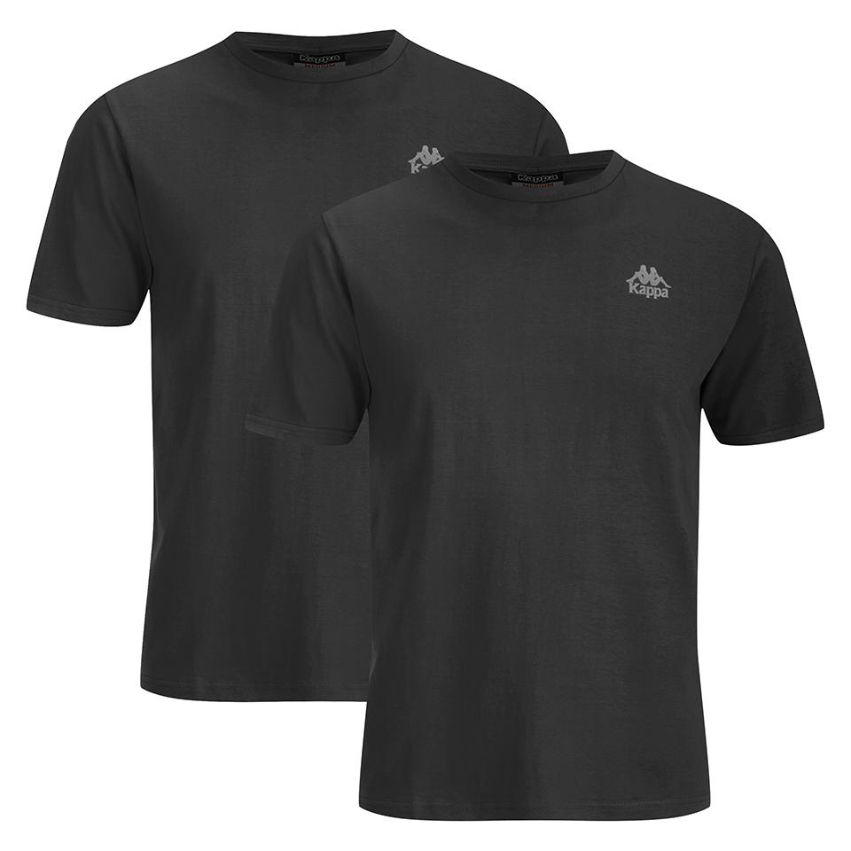 kappa-men-nico-2-pack-t-shirts-black-s