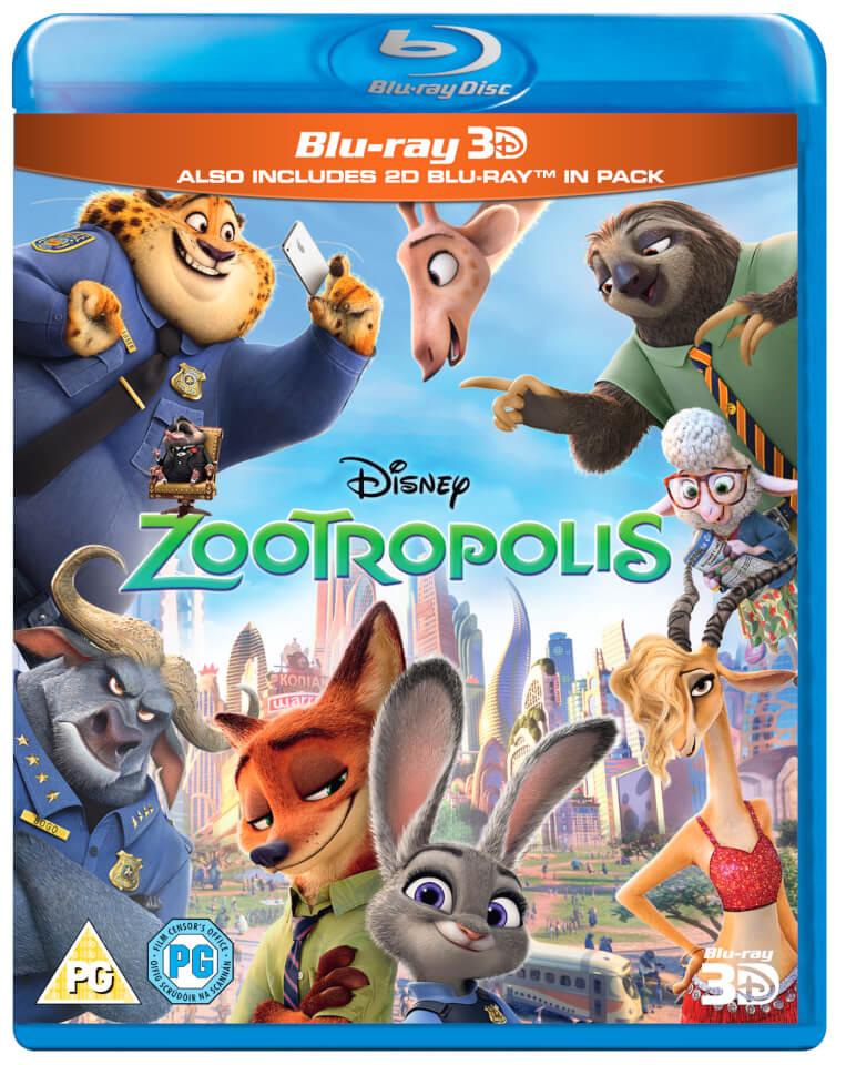 Zootropolis 3d Blu Ray Zavvi