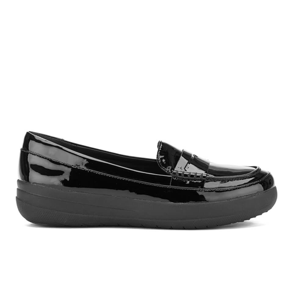 8bc7285b606 ... UPC 190035081508 product image for FitFlop Women s F-Sporty Patent Penny  Loafers - Black -