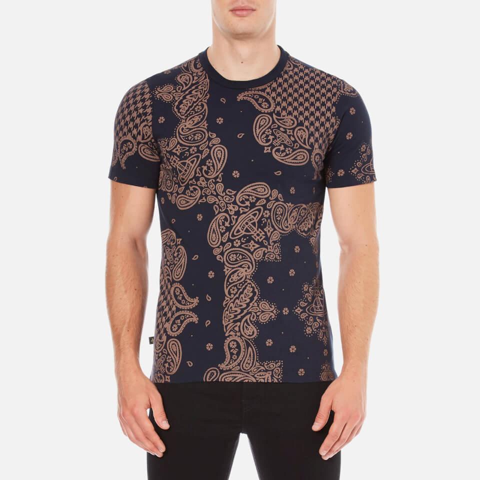 vivienne-westwood-anglomania-men-bandan-t-shirt-terracotta-navy-xl