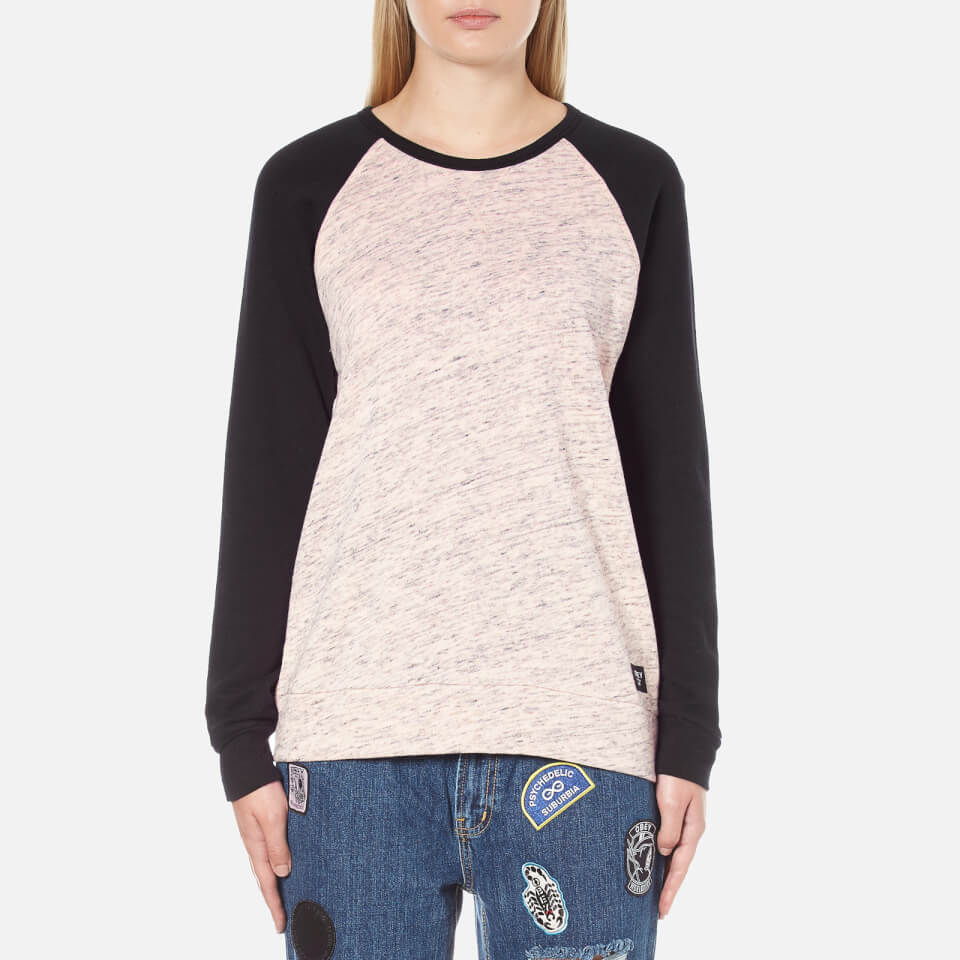 obey-clothing-women-jackson-raglan-long-sleeve-top-peach-heather-black-s-pink