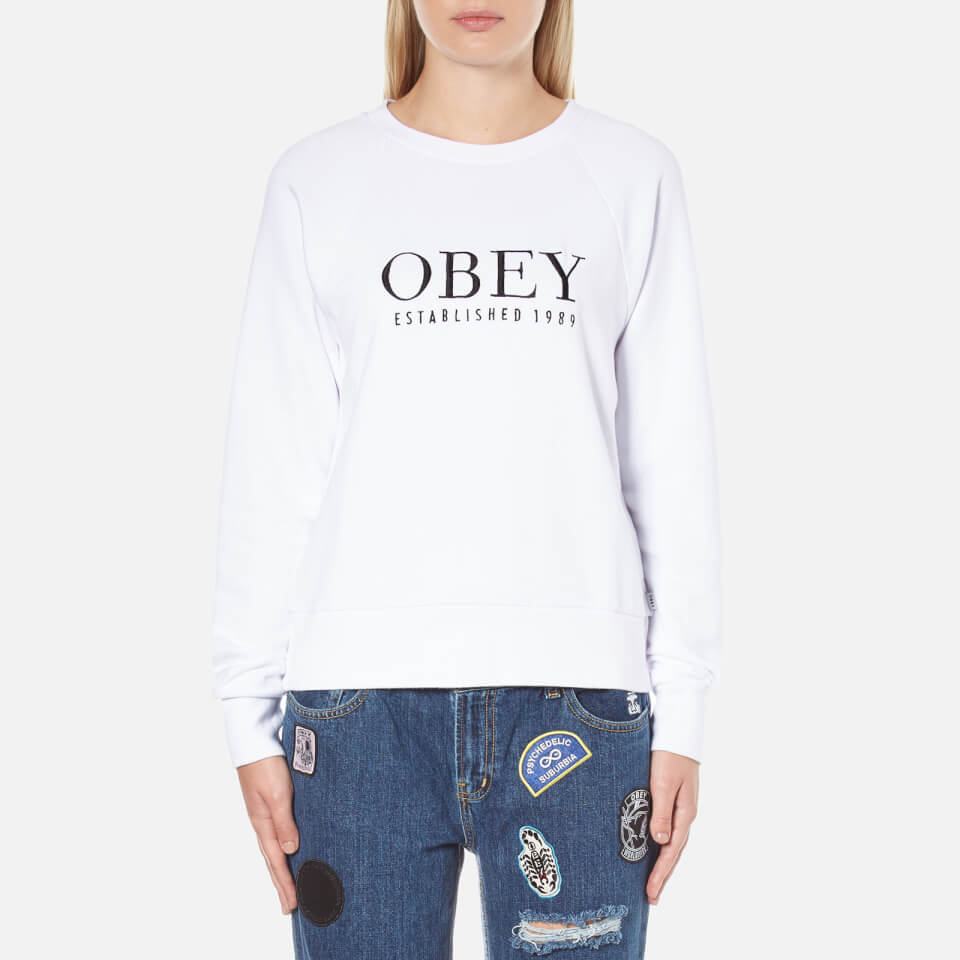 Obey Clothing Womens Obey Vanity Sweatshirt White S