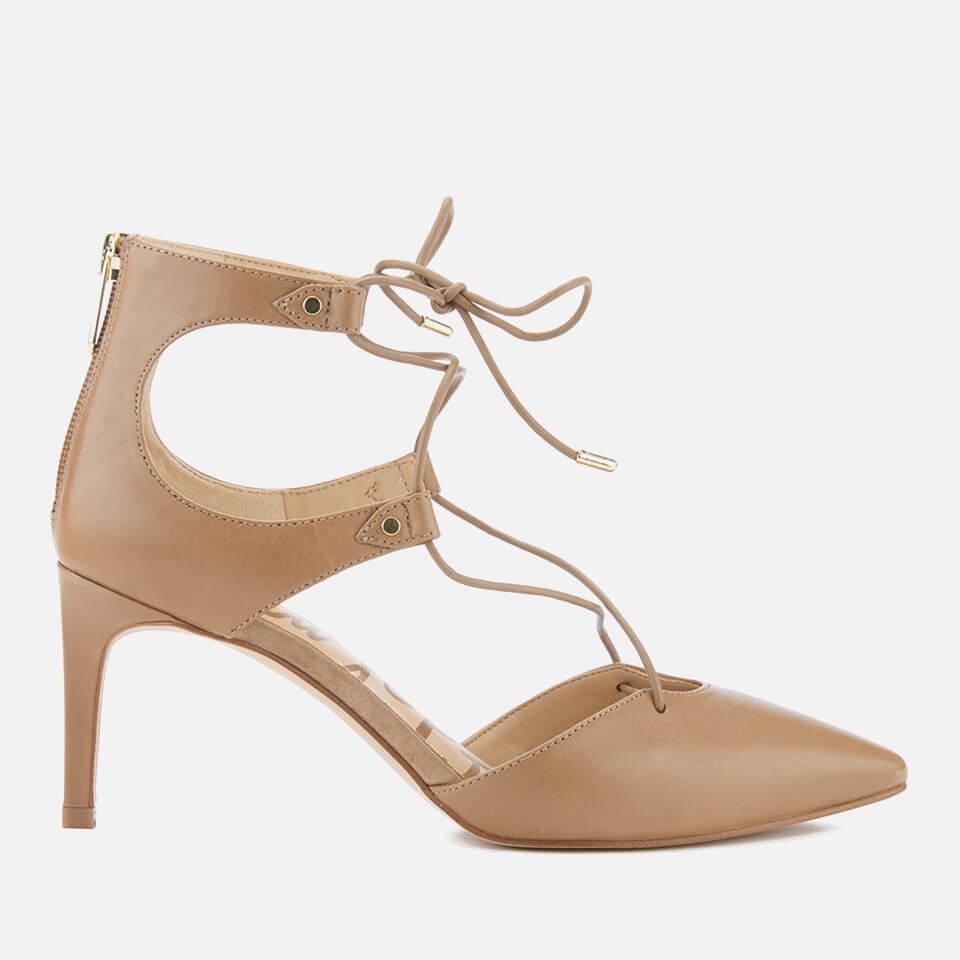 b73deb40dc9 Sam Edelman Women's Taylor Leather Lace Up Court Shoes - Golden Caramel