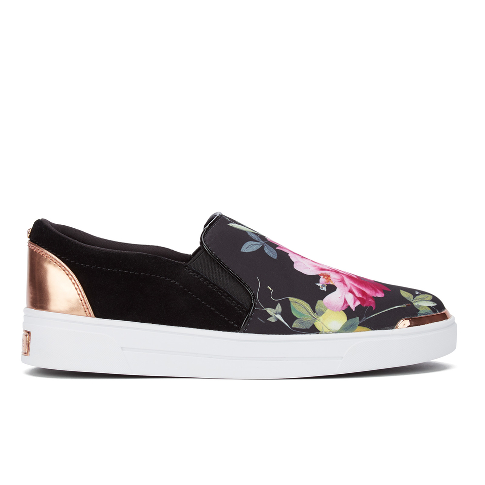 Ted Baker Women S Heem Floral Slip On Trainers Citrus