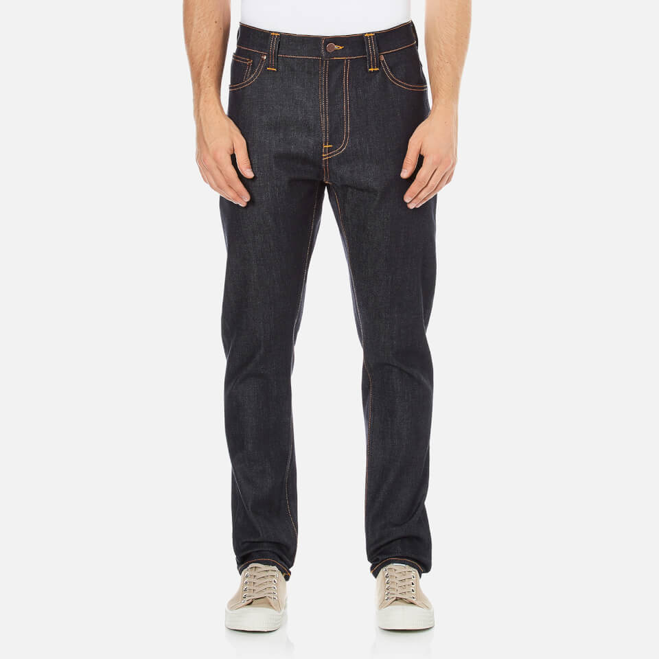 Nudie Jeans Mens Brute Knut Regular/tapered Fit Jeans Dry Navy Comfort W34/l30