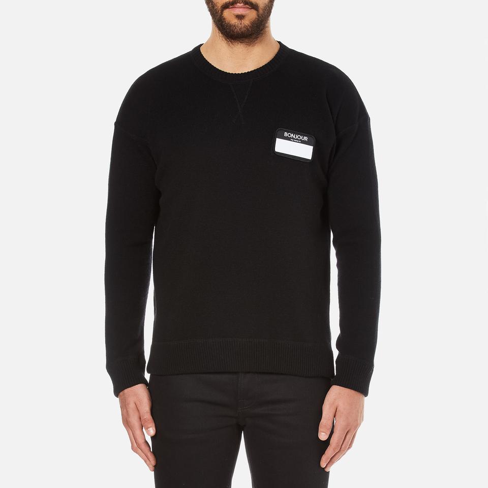 Ami Mens Oversized Crew Neck Sweatshirt Black L/eu 40