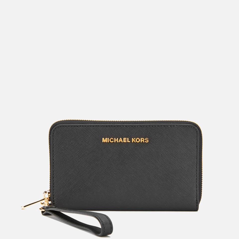 1cd97693c674a MICHAEL MICHAEL KORS Jet Set Travel Phone Purse - Black - Free UK ...