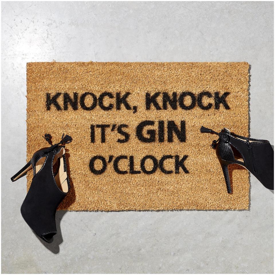 Gin O'Clock Doormat | IWOOT