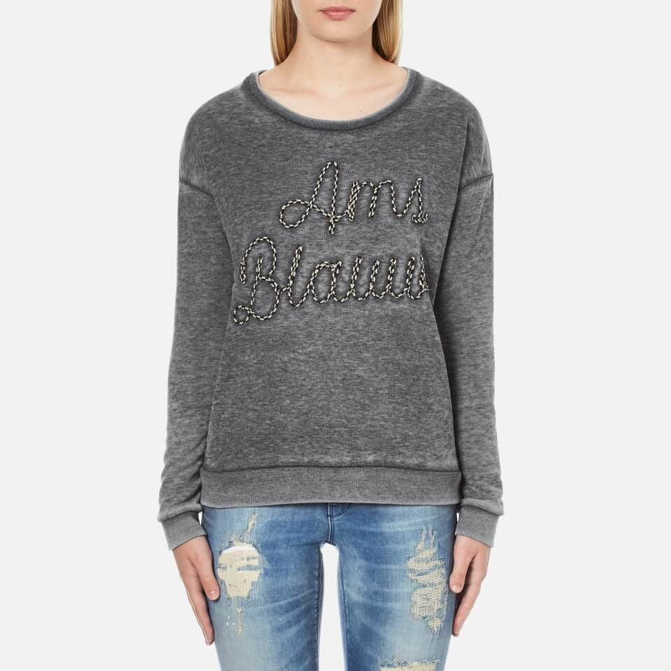 maison-scotch-women-basic-burn-out-theme-sweatshirt-grey-2-10