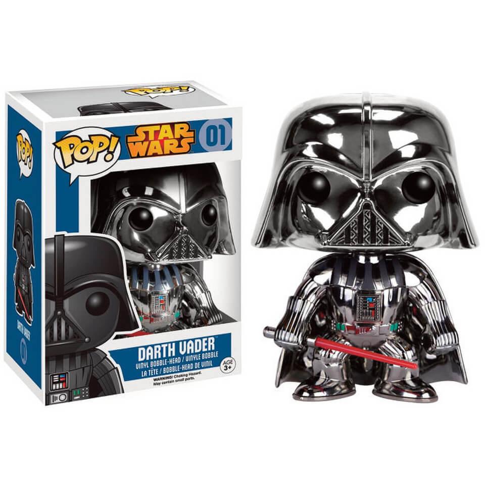 Star Wars Chrome Darth Vader Pop Vinyl Figure Pop In A