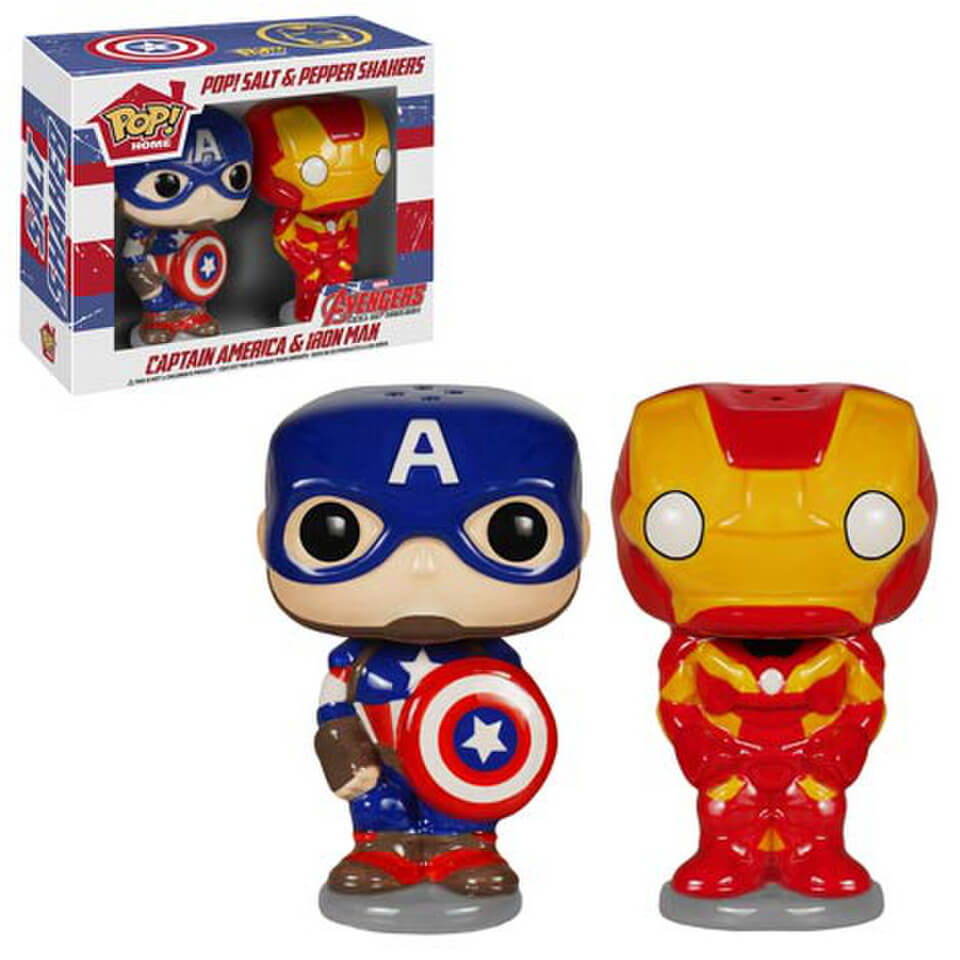 Avengers Age of Ultron POP! Home Salz und Pfefferstreuer Captain American Iron Man