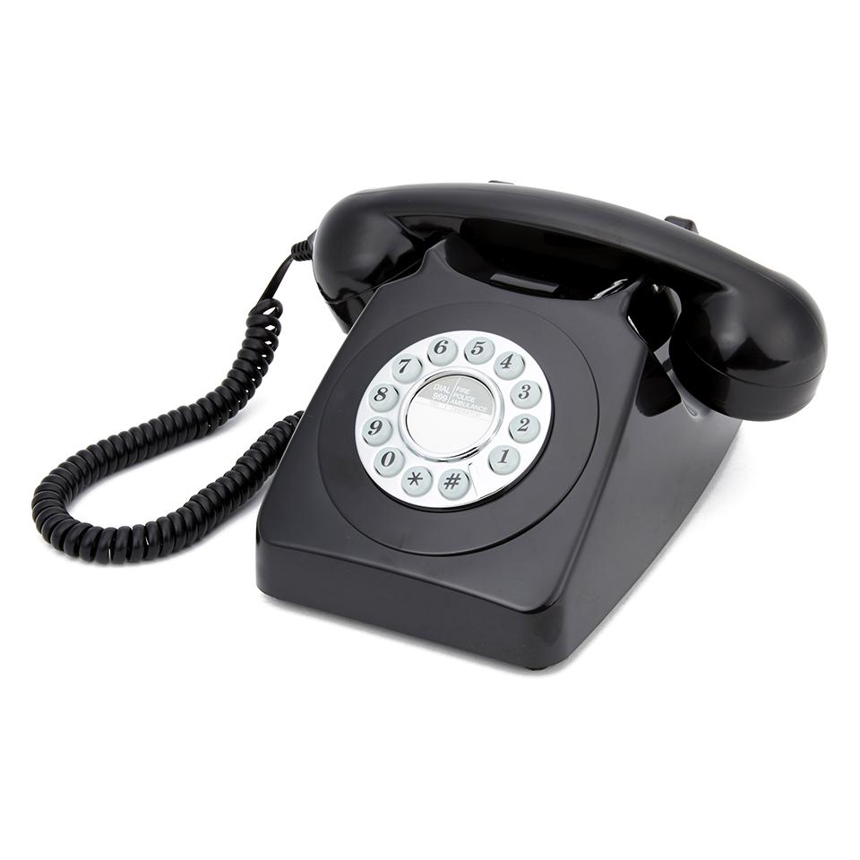 GPO Retro 746 Push Button Telephone - Black