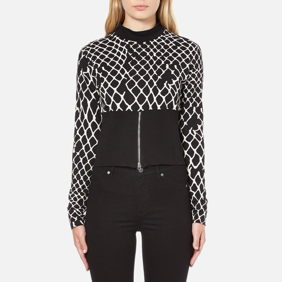 Cheap Monday Womens Vote Sweat Fence Sweatshirt Black Xs/uk 6