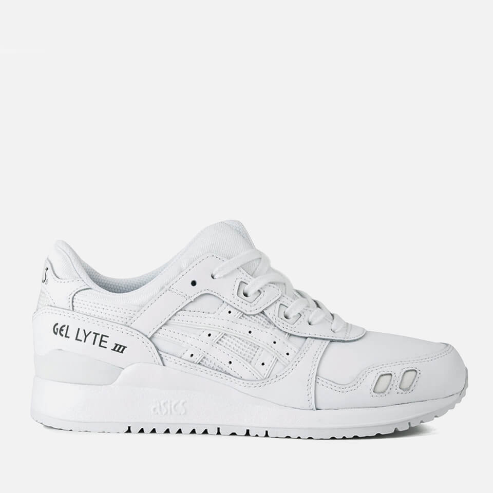 buy online c76b3 6aa66 Asics Lifestyle Gel-Lyte III Leather Trainers - White