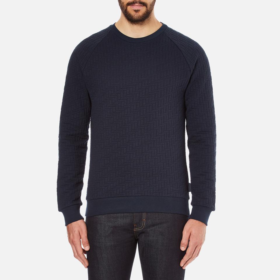 J.lindeberg Mens Chad Pattern Sweatshirt Blue M