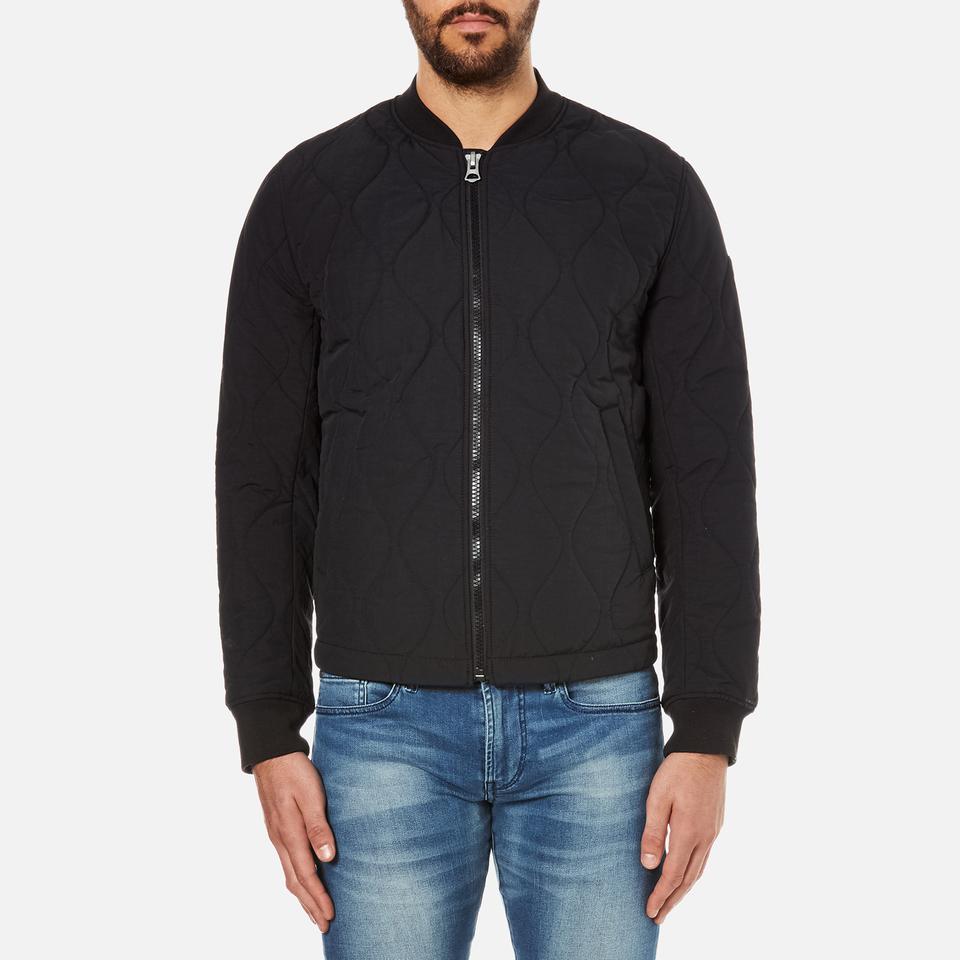 boss orange men 39 s okenzie zipped jacket black clothing. Black Bedroom Furniture Sets. Home Design Ideas