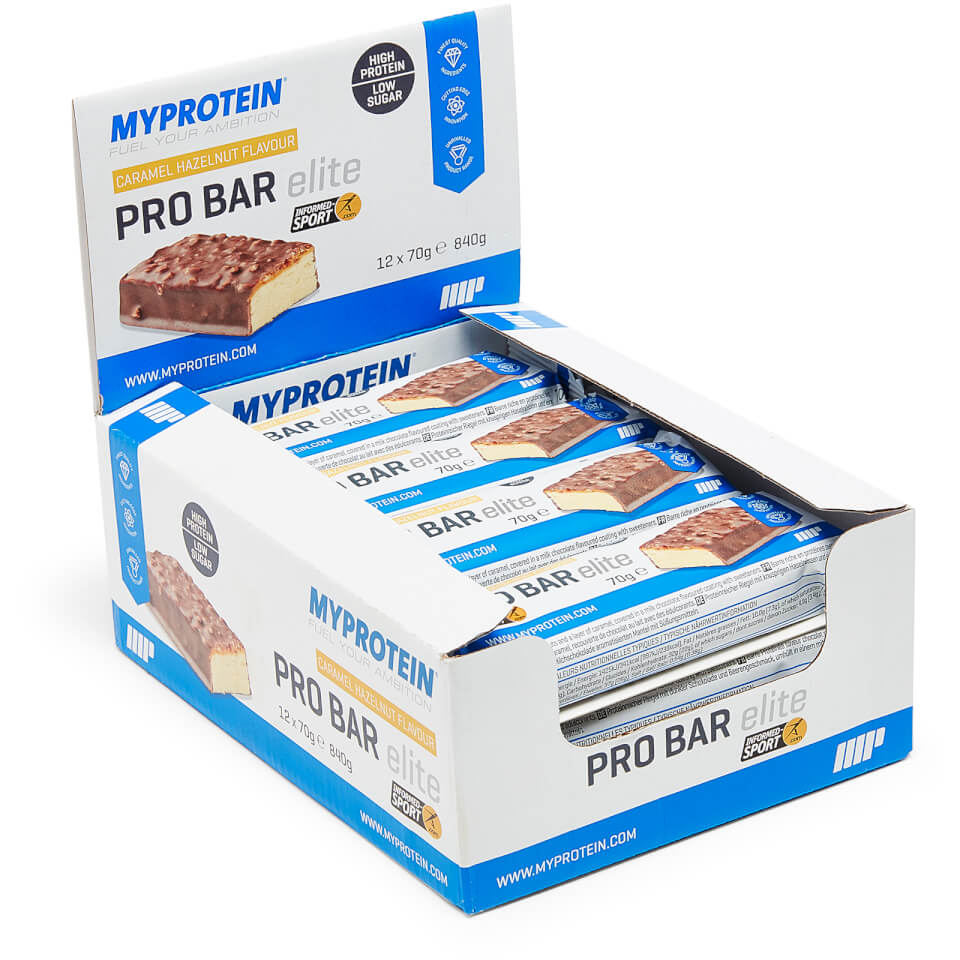 Pro Bar Elite - 12 x 70g - Toffee y Vainilla