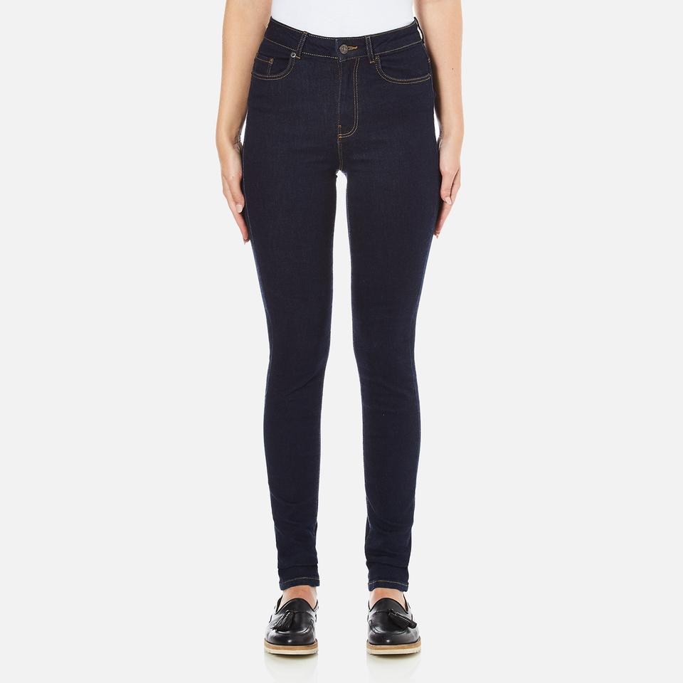 Vero Moda Womens Nine High Waisted Denim Jeans Dark Blue Denim W27/l32