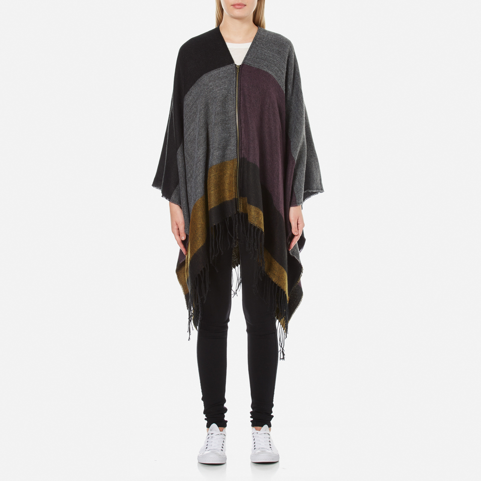 only-women-anda-weaved-zip-poncho-fudge-one-size