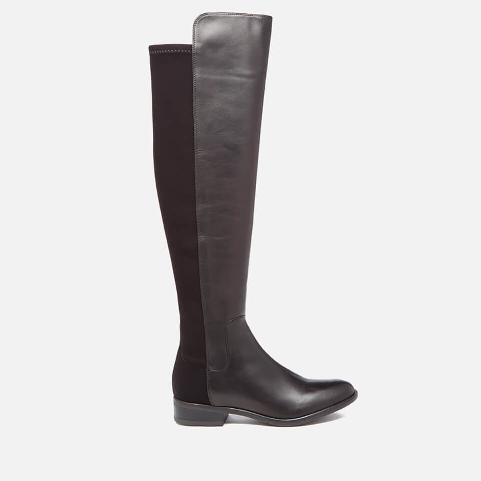 clarks women 39 s caddy belle leather thigh high boots black damenschuhe. Black Bedroom Furniture Sets. Home Design Ideas