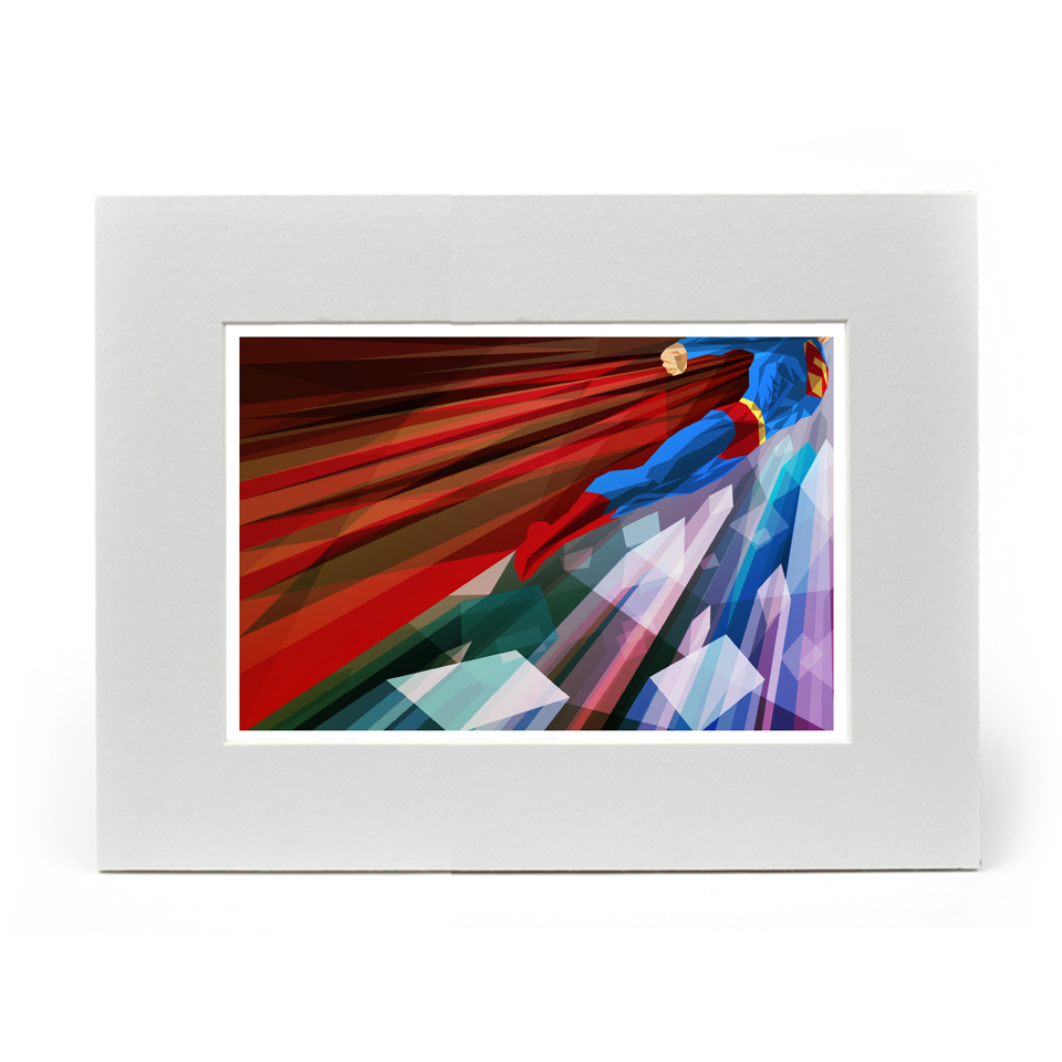 exclusive-superman-inspired-illustrated-art-print-mounted-14x11-inches-edition