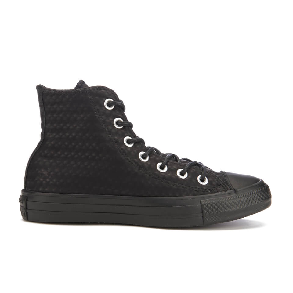 converse-women-chuck-taylor-all-star-craft-leather-hi-top-trainers-black-monochrome-3