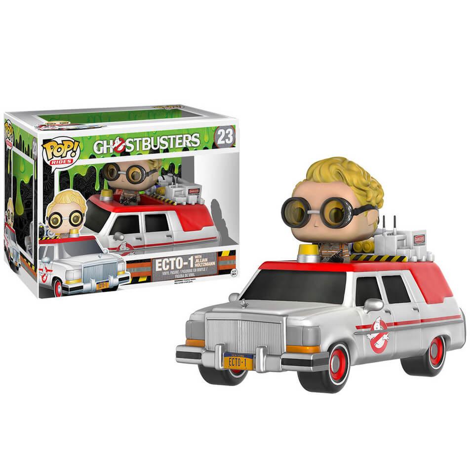 Ghostbusters 2016 Ecto 1 Vehicle with Jillian Holtzmann Funko Pop! Figur
