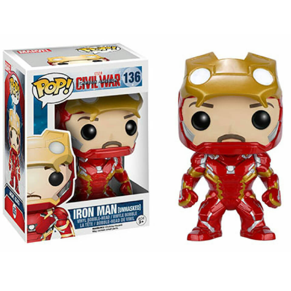 Marvel Civil War Iron Man Unmasked Pop Vinyl Figure