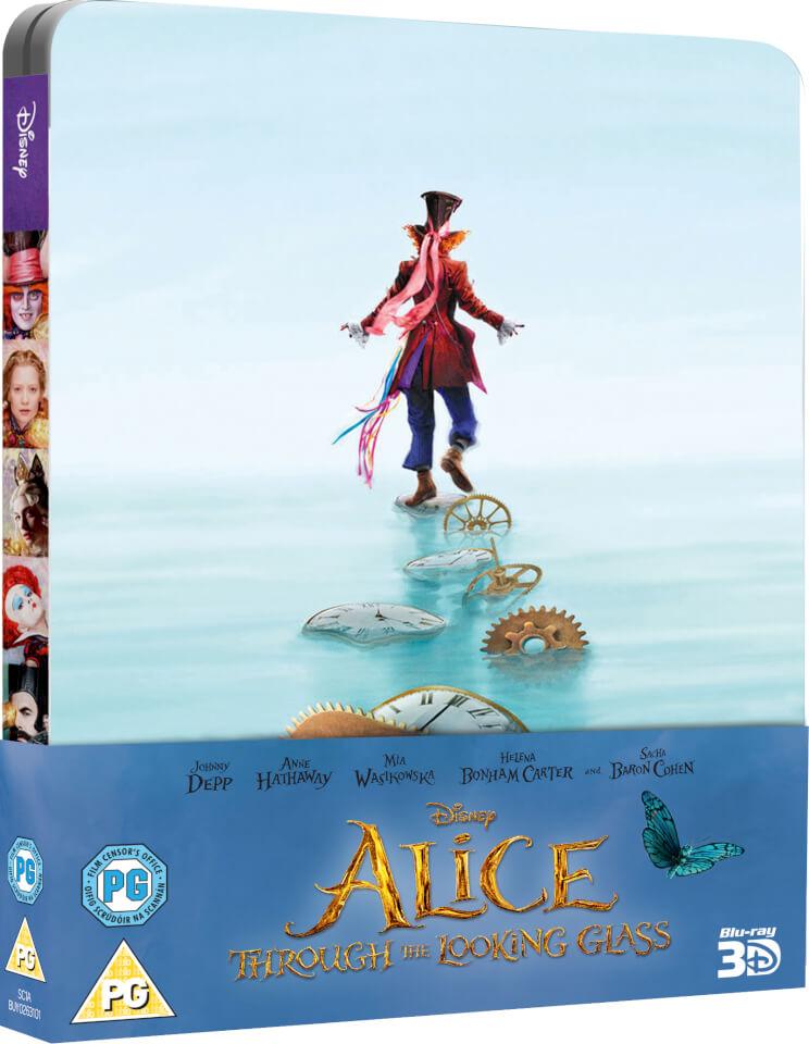 Alicia a través del espejo (3D + versión 2D) - Steelbook Edición Limitada Exclusivo de Zavvi (Edición UK)