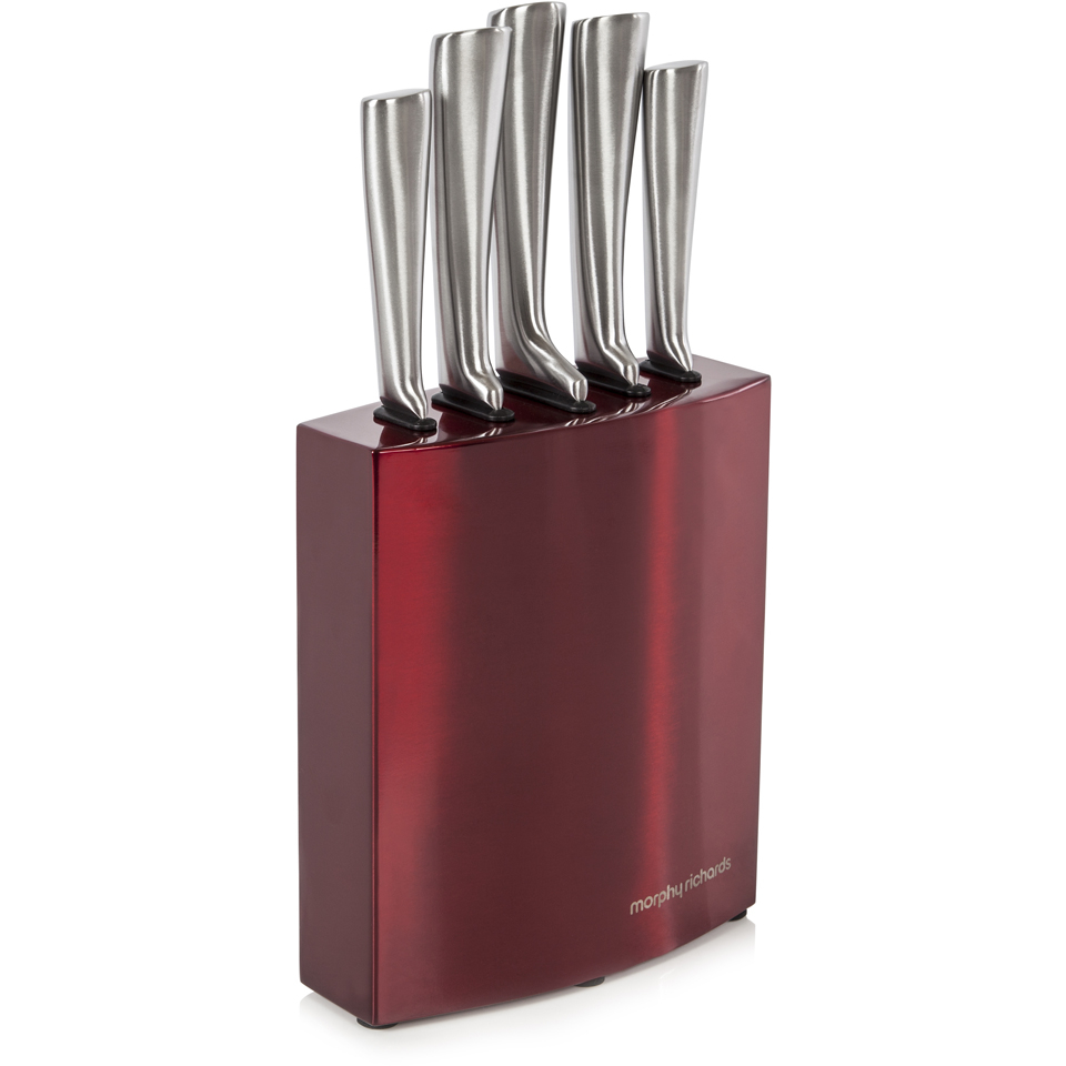 morphy-richards-974815-accents-5-piece-knife-block-red