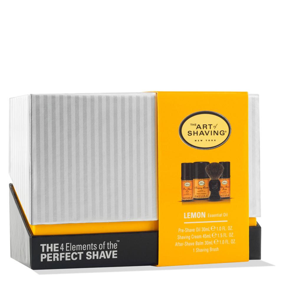 The Art Of Shaving Mid Size Kit Lemon