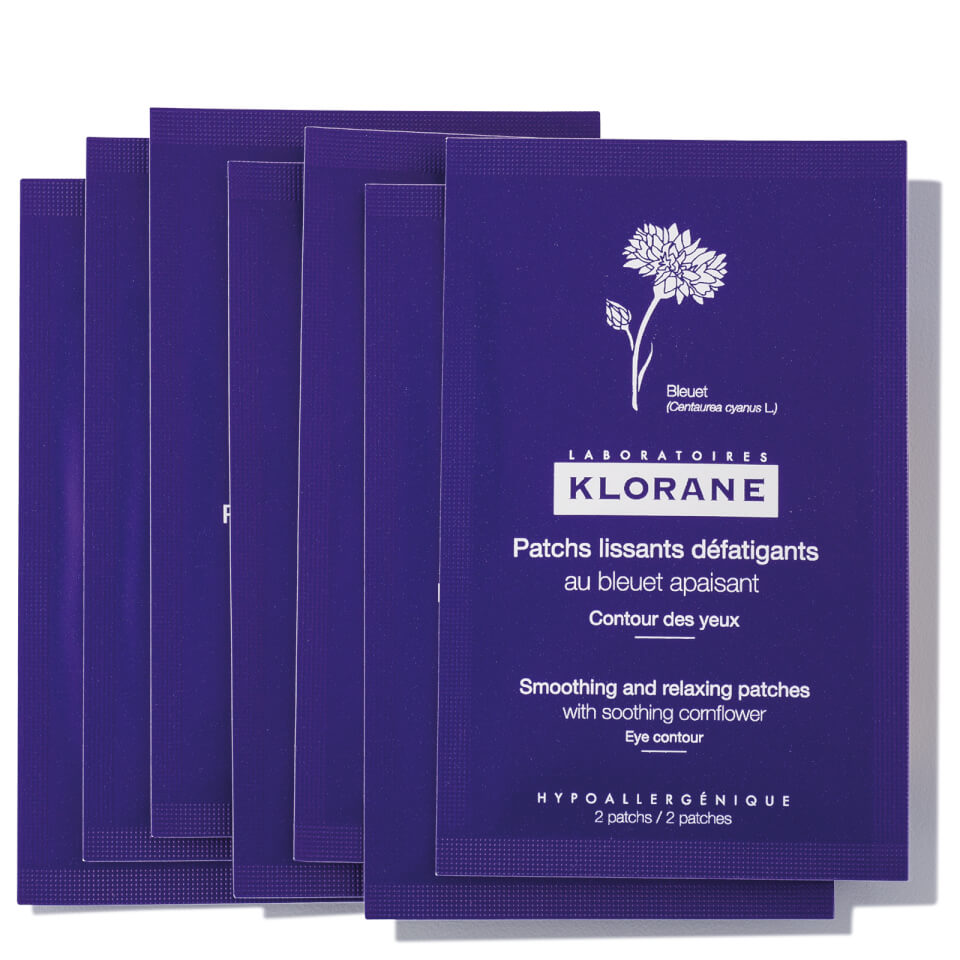 Image of KLORANE Smoothing and Relaxing Patches with Soothing Cornflower 7 sets