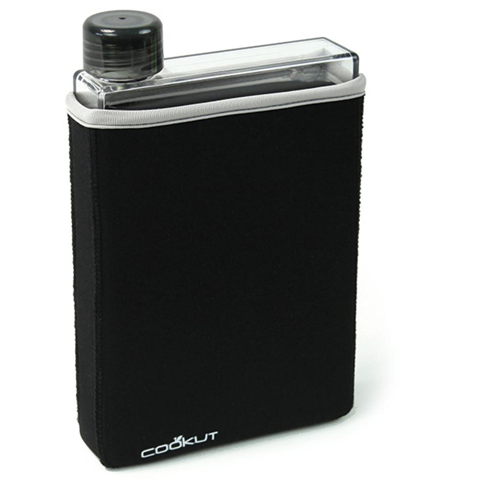 cookut-manta-flat-isotherm-bottle-400ml-black