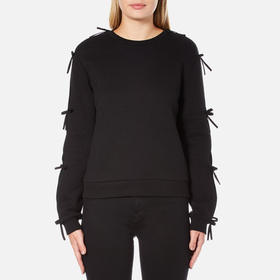 Michael Michael Kors Womens Laced Grommet Sweatshirt - New Navy - S
