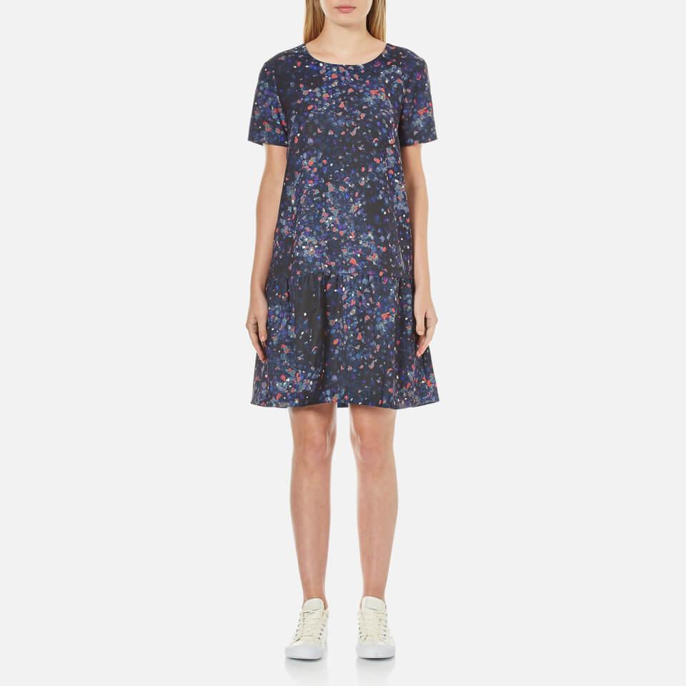 selected-femme-women-nisma-short-sleeve-dress-aop-print-xs