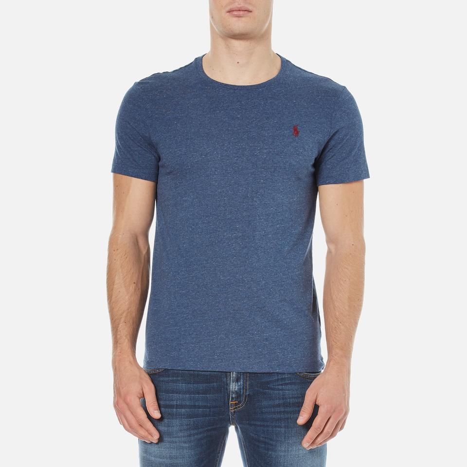 Polo ralph lauren men 39 s short sleeve crew neck custom fit for Staples custom t shirts