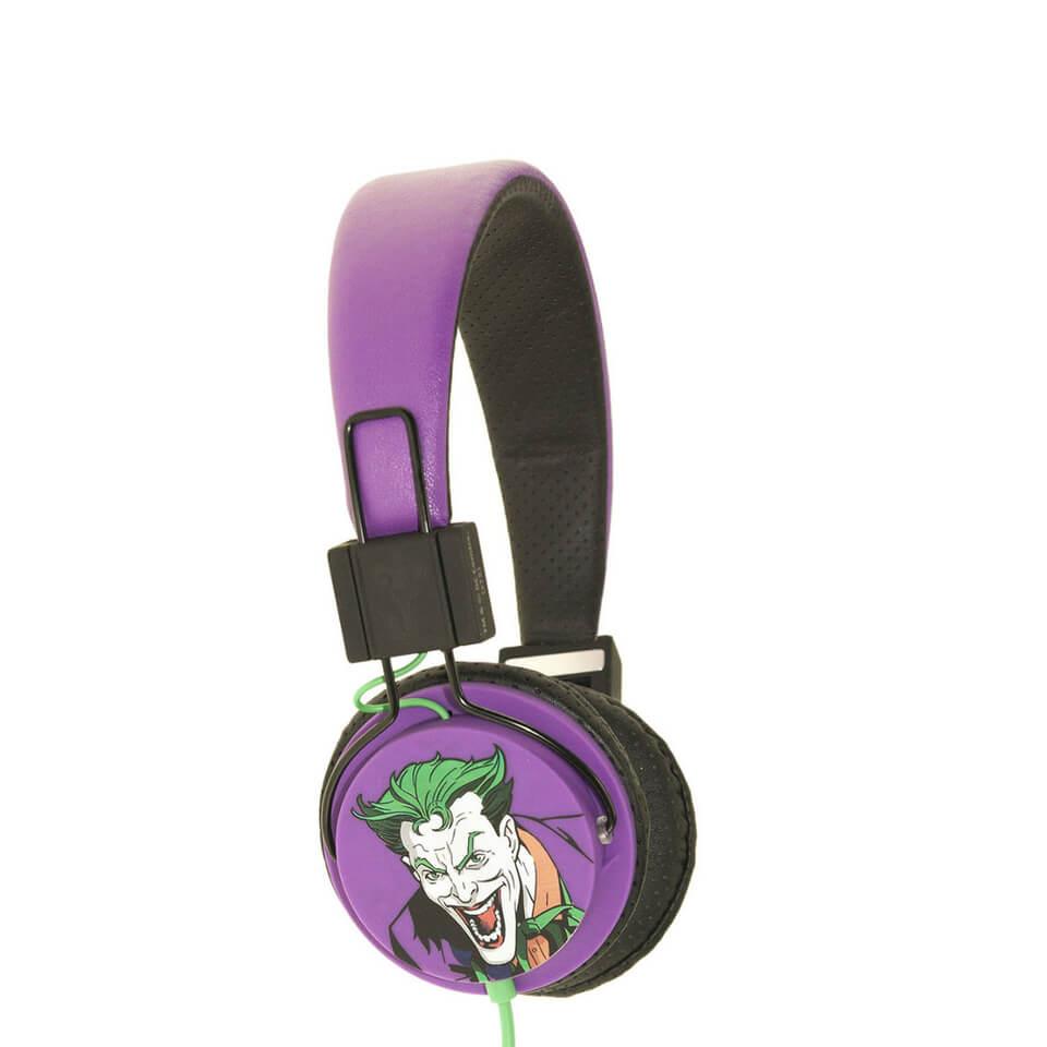 Batman The Joker Folding On Ear Headphones Black Logo