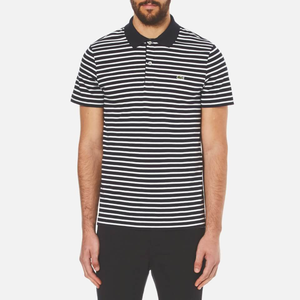 Lacoste striped polo shirt ph3011navy sizes 3 4 6 for Lacoste size 4 polo shirt