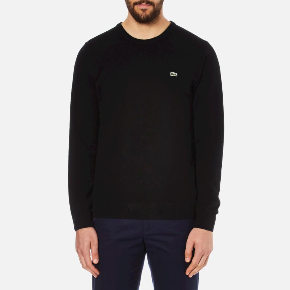 Lacoste Mens Crew Neck Sweatshirt Black 5/l