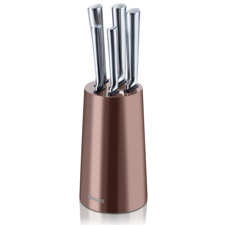 swan-swkb1010copn-5-piece-knife-block-copper