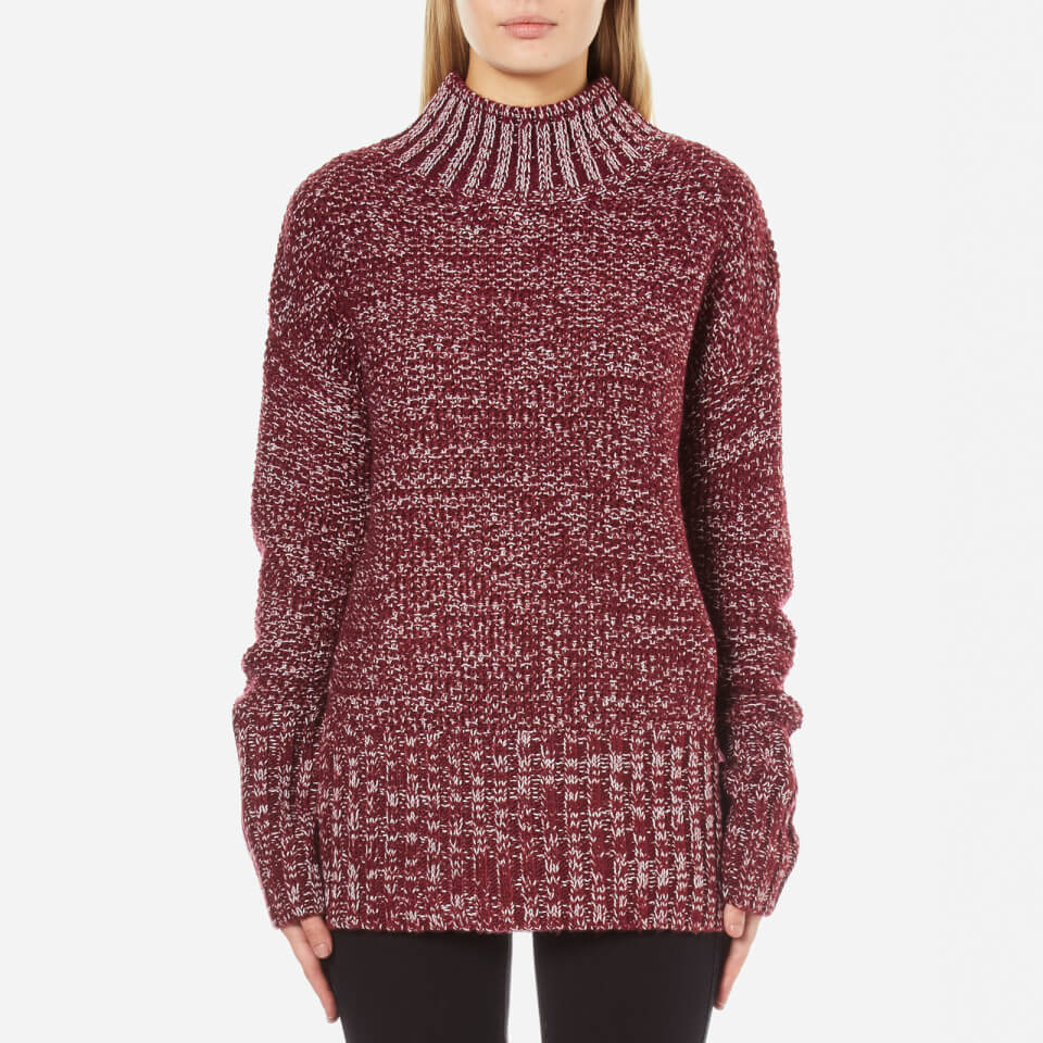 Minkpink Womens Perfect Timing Skivvy Sweatshirt Wine Marle M