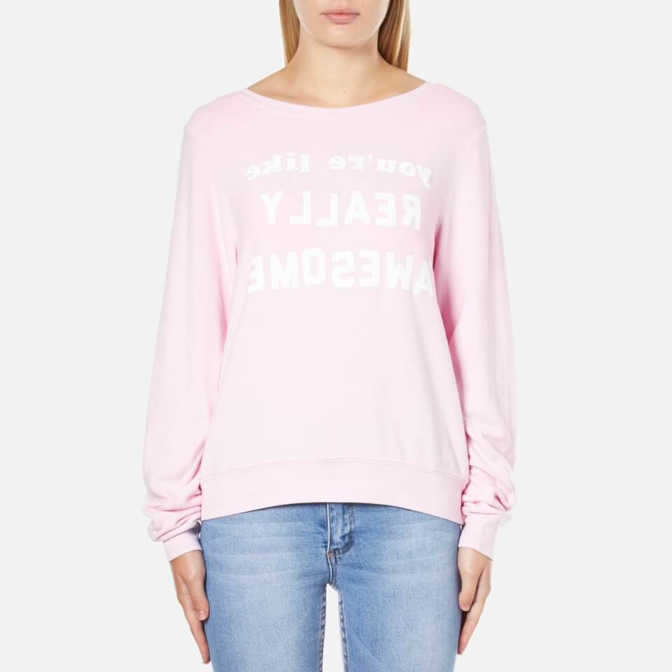 wildfox-women-really-awesome-baggy-beach-sweatshirt-pouty-pink-s