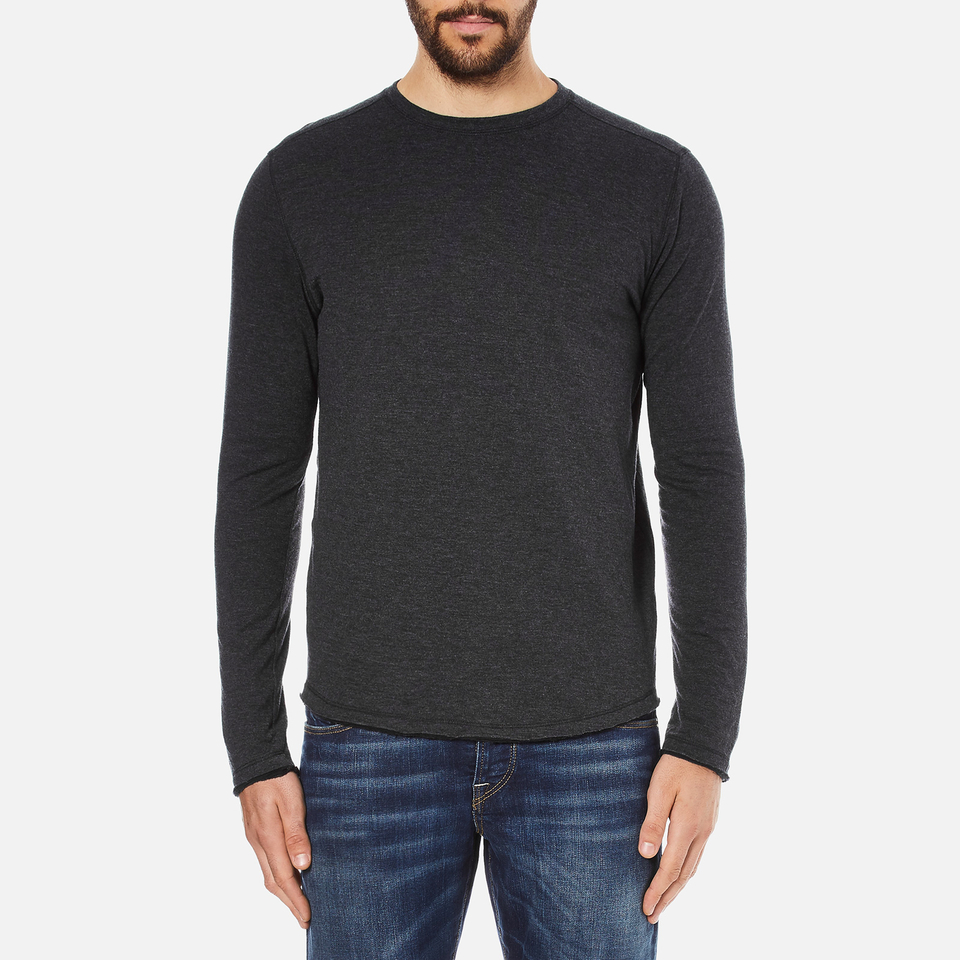 selected-homme-men-ludvig-long-sleeve-top-caviar-s